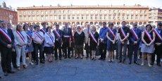Les élus de la Mairie de Toulouse, mais aussi le sénateur Claude Raynal et la députée Martine Martinel, ont participé à cette minute de silence