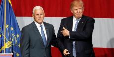 Donald Trump (à droite) avec son colistier, Mike Pence.