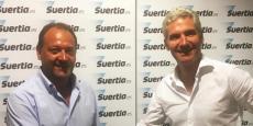 Eduardo Losilla, fondateur de Suertia, et Hervé Schlosser, président de France Pari.