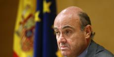 Le ministre de l'Economie Luis de Guindos, lors d'une conférendce de presse au ministère de l'Economie, le 6 juillet.
