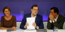 Mariano Rajoy, lors de la réunion du comité exécutif du Parti populaire, mecredi 17 août.