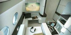 Mini-suite conçue par Airbus Corporate Jet Centre.