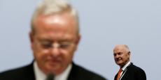 Martin Winterkorn (à gauche) est arrivé à la tête du groupe Volkswagen en tant que dauphin désigné par le puissant et influent Ferdinand Piëch.