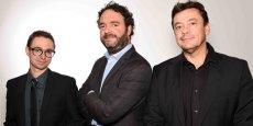 Les co-fondateurs de Plussh : T. Wasiolek, D. Moulins et L. Damiron