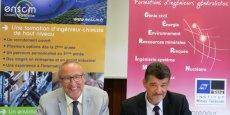 De g. à d.:  Bruno Goubet et Pascal Dumy