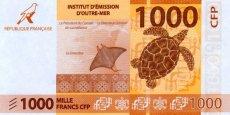 La valeur du billet de 1.000 francs CFP est de 8,38 euros. Et 1 euro vaut donc environ 119,332 francs CFP.