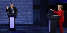 Hillary Clinton et Donald Trump lors du débat télévisé du 26 septembre 2016
