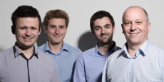 David Billière, Nicolas Masson, Tom Camin et Jean-François Charrier, fondateurs d'Elocky