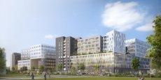 Vu du projet Quai 8.2 qui va proposer bureaux, commerces, hôtels et résidence étudiante