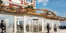 La façade du futur Grand Hôtel & Spa qui sera construit et exploité par Pichet à Malo-les-Bains, quartier de Dunkerque.