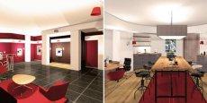 Les futurs espaces pros de Société Générale se veulent plus conviviaux, cassant la relation traditionnelle du banquier recevant dans son bureau.