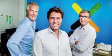 Arnaud Mitre, Jean-Marc Tassetto et Frédérick Bénichou, les trois cofondateurs de Coorpacademy.