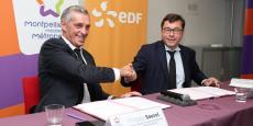 Philippe Saurel (M3M) et Jean-Pierre Frémont (EDF) concluent un partenariat de trois ans