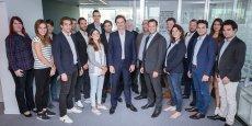 L'équipe de la startup franco-belge FX4BIZ, rebaptisée Ibanfirst, autour de son fondateur Pierre-Antoine Dusoulier.
