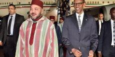 Mohammed VI, Roi du Maroc,  reçu le 18 octobre par le Président Rwandais Paul Kagamé.