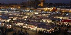 La place Jemaa el-Fna au centre de Marrakech.