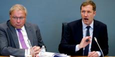 De gauche à droite, André Antoine, Président du Parlement wallon et Paul Magnette,  Ministre-président de la Wallonie