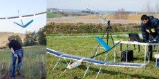 Le drone est équipé d'une aile solaire conçue sur mesure