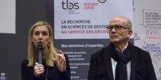 Sylvie Borau, en compagnie de Jacques Rossi, lors de la Matinale TBS