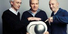 Les trois fondateurs de la startup française Devialet, spécialiste des enceintes haut-de-gamme, distinguée dans le Top 50 des futures licornes établi par Tech Tour.