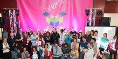 Les finalistes et lauréats de la YESS Académie 2016, autour de Marie Meunier-Polge, conseillère régionale représentant la présidente de Région, Carole Delga.