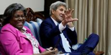 Linda Thomas-Greenfield et John Kerry en Août 2016