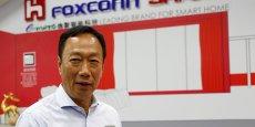 Le patron et fondateur de Foxconn Terry Gou après la prise de contrôle de Sharp.
