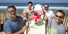 Fabien Farge, Anthony et David Gavend, Gérald Dumartin, les créateurs du drone Helper