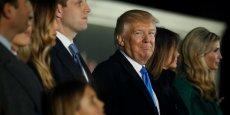 Trump et sa famille lors d'un concert à Washington le 19 janvier.