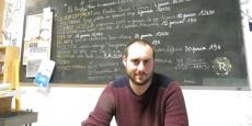Alexis Trillard, directeur d'Arc en Ciel, à l'espace de coworking La Ruche à Bordeaux.