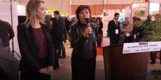 Nadia Pellefigue et Carole Delga, vice-présidente et présidente de Région, lors de l'inauguration du 10e Midinnov, le 26 janvier 2017