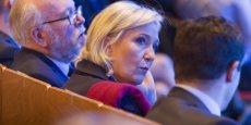 La candidate de l'extrême droite aux Assises présidentielles du Front national qui se tiennent ce week-end à Lyon.