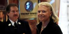Ginni Rometty, PDG d'IBM, a rencontré le nouveau président des Etats-Unis dans sa Trump Tower le 14 décembre 2016, en compagnie d'autres entreprises de la tech.