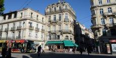 Le centre ville de Montpellier.