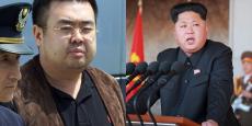 Kim Jong-Nam assassiné lundi dernier à l'aéroport de Kuala Lumpur en Malaisie et Kim-Jung Un, actuel dictateur de la Corée du Nord.