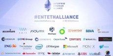 De BP à Telindus, en passant par une flopée de banques et de géants de la tech, une trentaine d'entreprises se sont unies au sein de cette alliance pour développer Ethereum, un type de Blockchain permettant de créer des contrats intelligents (smart contracts).