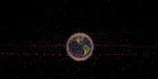 La Terre et sa ceinture de débris spatiaux.