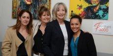 Les membres du bureau de Femmes 3000 LR, de g. à d.: Nathalie Couturier, secrétaire générale adjointe, Agnès Blasi, trésorière, Alyne Bouix, présidente, et Linda Antoine, secrétaire générale.