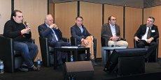 Première table-ronde : J.-P. Gandolfi (BG Ingénieurs Conseils), J. Bucki (SBA), J.-F. Galloüin (Icade), S. Loiseau (GCC) et A. Rey (Objectif)