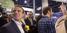 Emmanuel Macron lors du CES de Las Vegas en 2015.