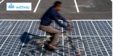 Le revêtement photovoltaïque Wattway a été inventé par le fabricant français Colas, une filiale de Bouygues.