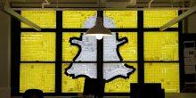 Logo Snapchat réalisé à partir de post-it dans les bureaux d'Havas à Manhattan à New York en mai 2016