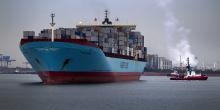Rotterdam, port, ville portuaire, cargo, porte-conteneurs, supermax, Carsten Maersk,