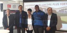 P. Canayer (MHB), M. Charpentier (MHR) C. Fabresse (Caisse d'Épargne LR), R. Tchale-Watchou (MHR), et C. Carniel (Vogo)