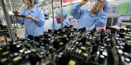 Contraction de l'activite manufacturiere en chine