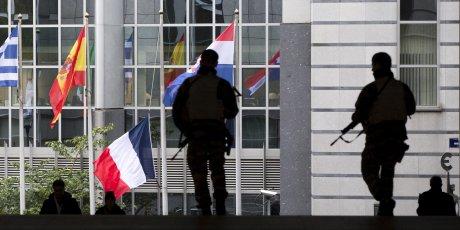 Europe France attentats Bruxelles drapeaux France