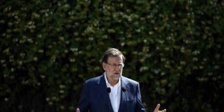 Le parti de mariano rajoy en tete des legislatives espagnoles