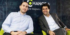 Philippe Goold, directeur général, et Gael Duval, fondateur et président de JeChange.fr