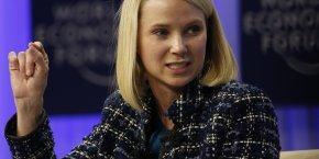 La CEO/patronne de Yahoo! Marissa Mayer en janvier 2015 lors du WEF de Davos