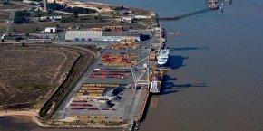 Le terminal conteneurs du Verdon